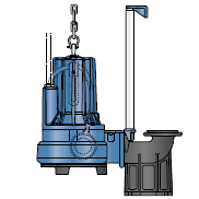 Υποβρύχια αντλία PVXC 15/50 PEDROLLO βαρέων λυμάτων.